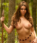 Kylie Kohl in the forest